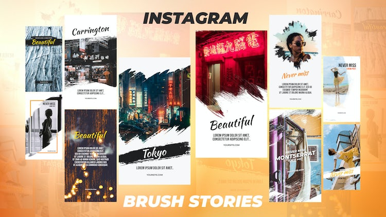 Instagram Stories Pack 9: After Effects Templates