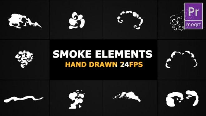 Cartoon Smoke Elements: Motion Graphics Templates