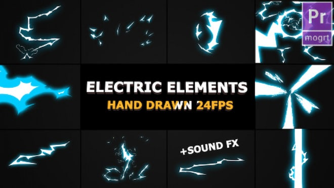 Dynamic Electric Elements: Motion Graphics Templates