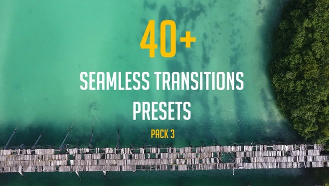 40+ Seamless Transitions Presets (pack 3): Premiere Pro Presets