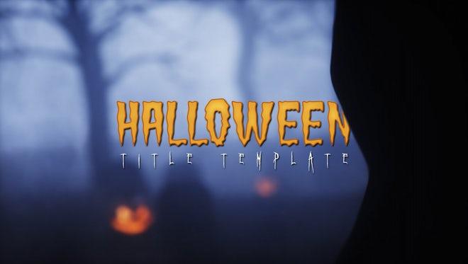 Halloween Template: Motion Graphics Templates