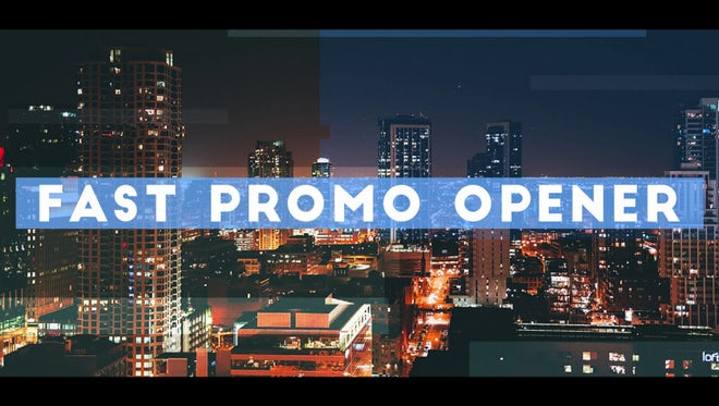 Fast Promo Opener: After Effects Templates