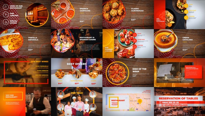 Food - Restaurant Menu: After Effects Templates