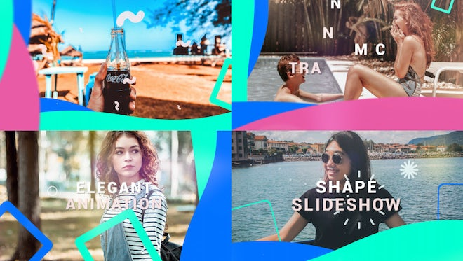 Shape Slideshow: After Effects Templates