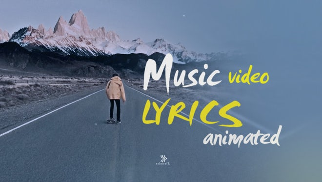 Lyrics Animated Text: After Effects Templates