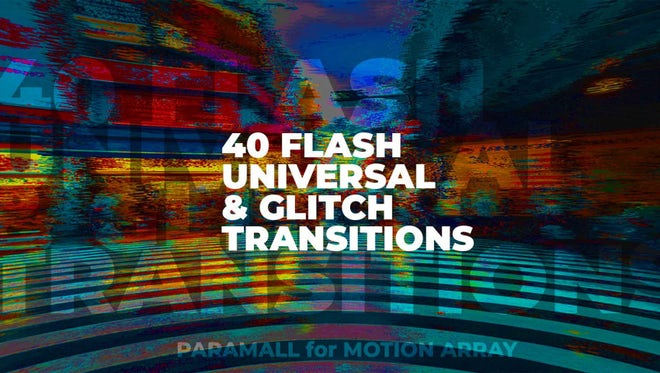 Flash Universal & Glitch Transition Presets: Premiere Pro Presets