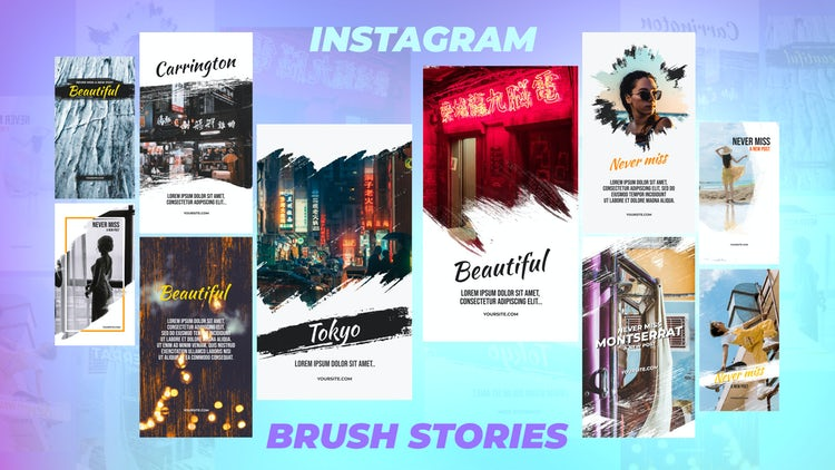 Instagram Stories Pack 9: Motion Graphics Templates