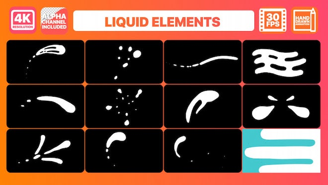 Liquid Shapes: Stock Motion Graphics