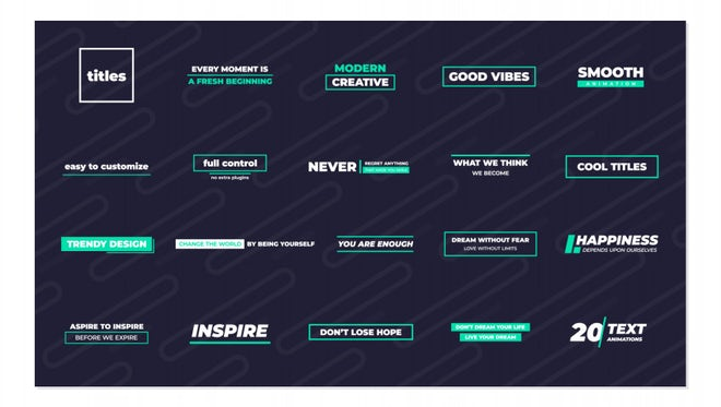 Cool Titles: Motion Graphics Templates