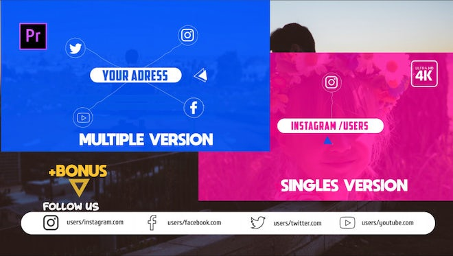 Social Outro Pack: Motion Graphics Templates