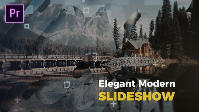 Elegant Modern Slideshow: Premiere Pro Templates