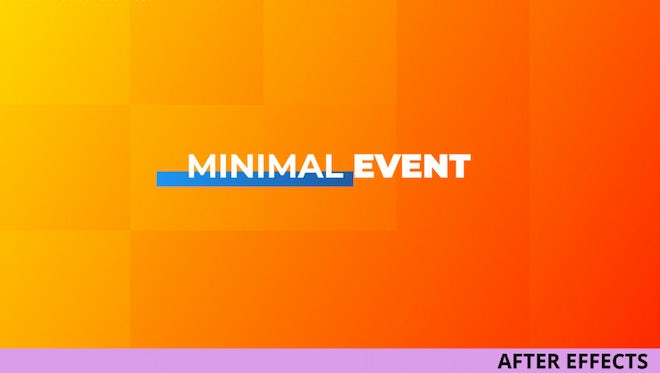 Minimal Event: After Effects Templates