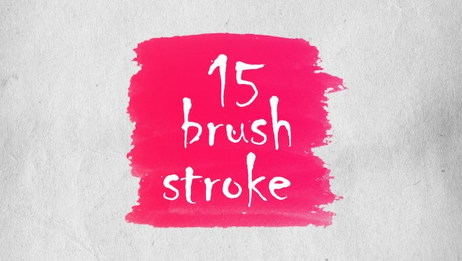 Brush Strokes Elements: After Effects Templates