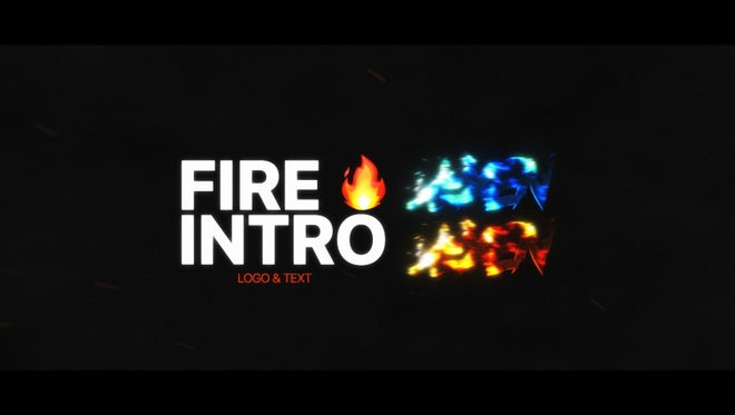 Fire Intro: After Effects Templates