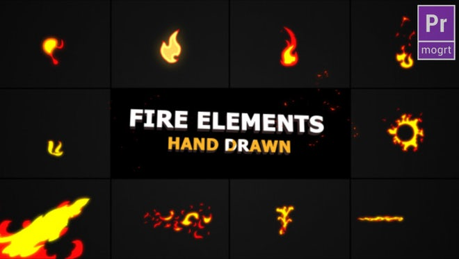 Flash FX Fire Elements: Motion Graphics Templates