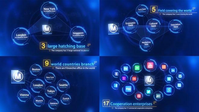 HUD Tech Plexus Title Connection: After Effects Templates