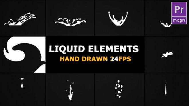 Flash FX Liquid Elements: Motion Graphics Templates