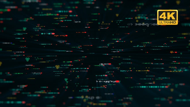 Abstract Code Printing Loop: Stock Motion Graphics