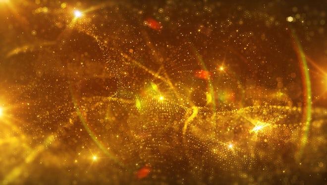 Elegant Glitter Golden Particles: Stock Motion Graphics