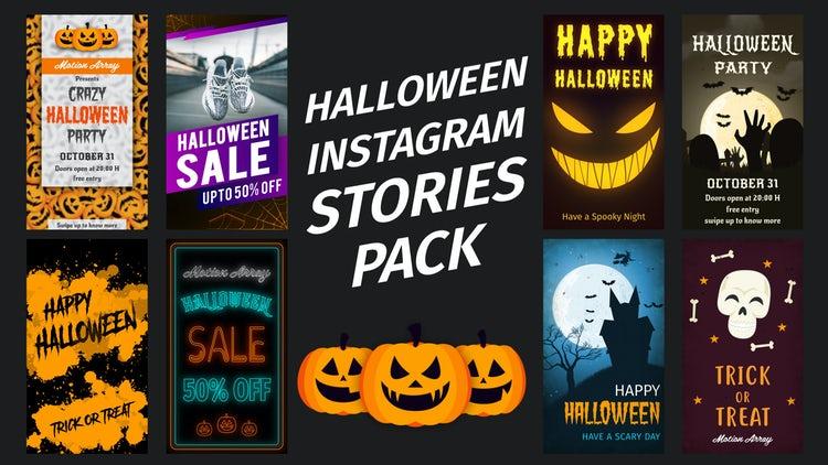 Halloween Instagram Stories - After Effects Templates