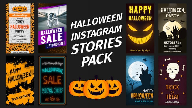 Halloween Instagram Stories: After Effects Templates