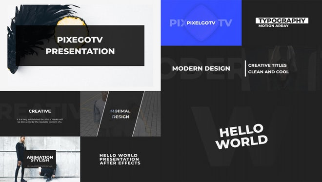 Typography Intro: After Effects Templates