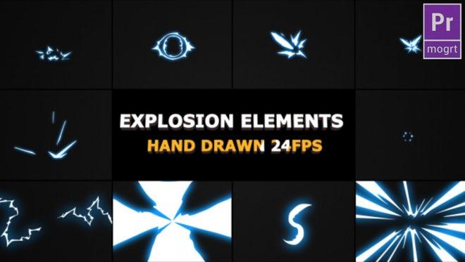 Flash FX Explosion Elements: Motion Graphics Templates