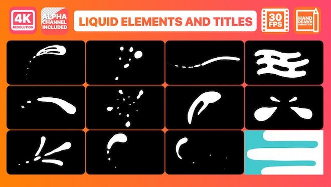 Liquid Shapes And Titles: Motion Graphics Templates