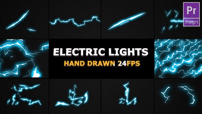 Flash FX Lightning Elements: Motion Graphics Templates