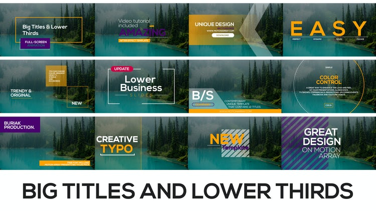 Big Titles and Lower Thirds: After Effects Templates