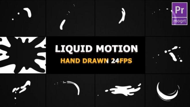 Liquid Motion Shapes: Motion Graphics Templates