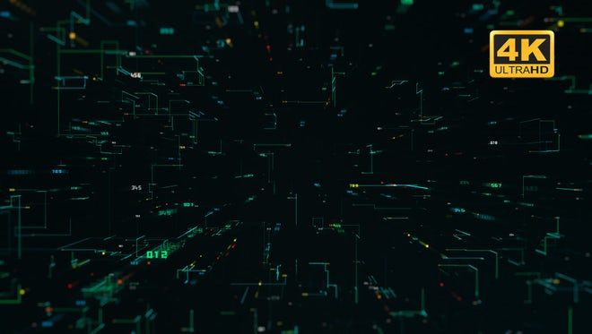 Abstract Digital Network Loop: Stock Motion Graphics
