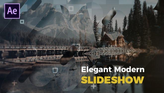 Elegant Modern Slideshow: After Effects Templates
