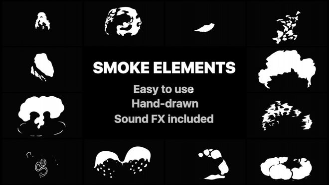 2D FX Puffy Smoke Elements: Stock Motion Graphics