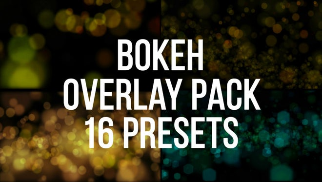 Bokeh Mix Overlay Pack: Stock Motion Graphics
