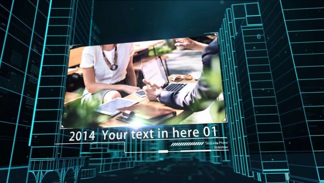Tech City Photo Slideshow: After Effects Templates