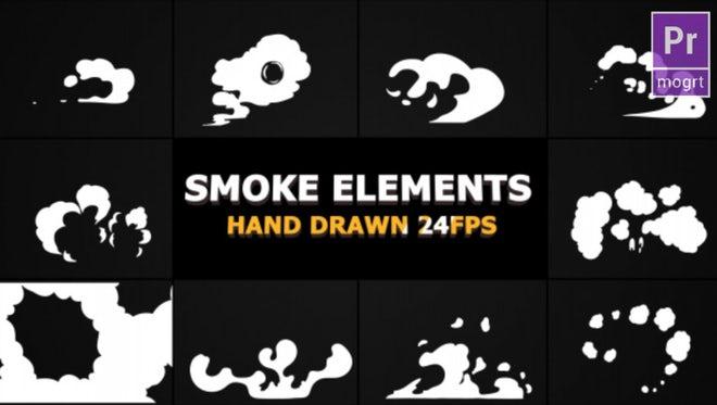 Hand Drawn Smoke Elements: Motion Graphics Templates