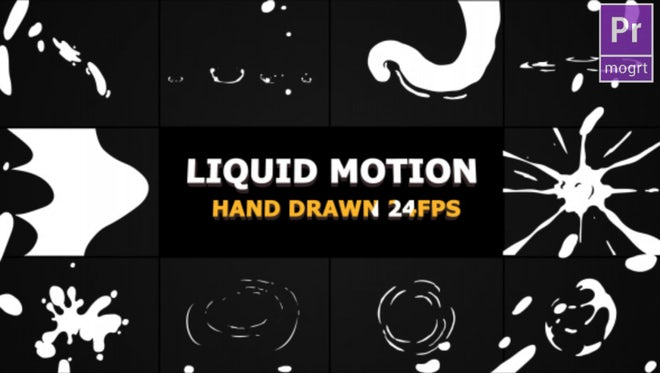 Liquid Motion Elements And Transitions: Motion Graphics Templates