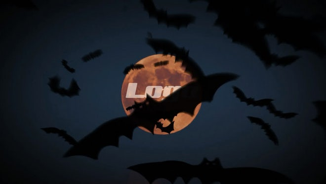 Halloween Bats Logo Reveal: After Effects Templates