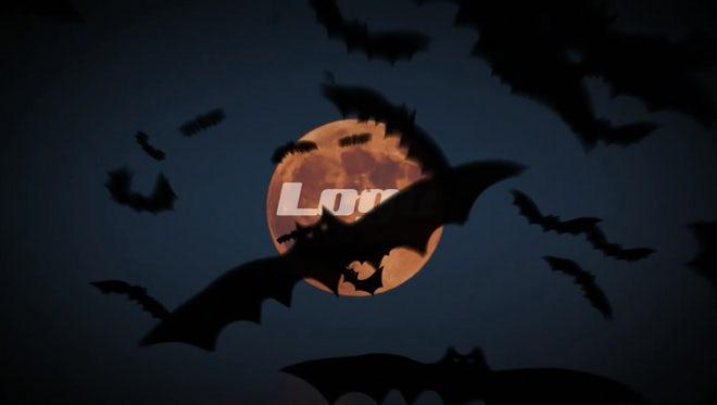 Halloween Bats Logo Reveal: After Effects Templates