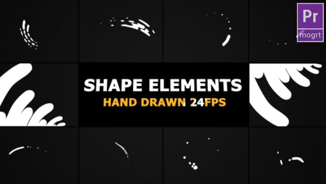 Hand Drawn Shape Elements And Transitions: Motion Graphics Templates