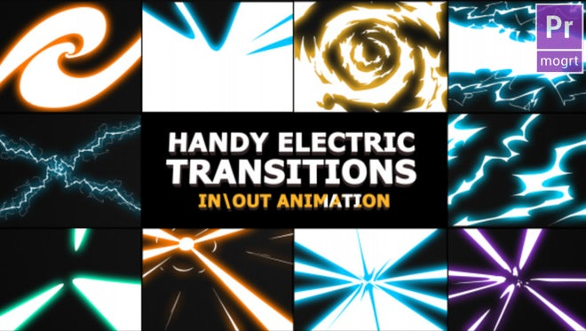 Handy Electric Transitions: Motion Graphics Templates