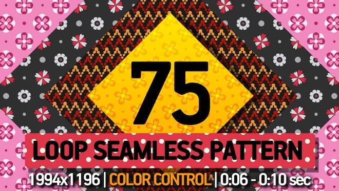 75 Pattern Loop: After Effects Templates