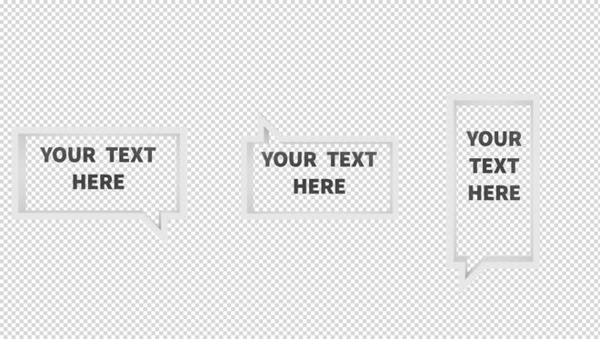 3D Dialogue Rectangles: After Effects Templates