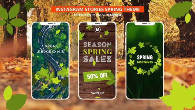 Instagram Stories Spring & Autumn: After Effects Templates