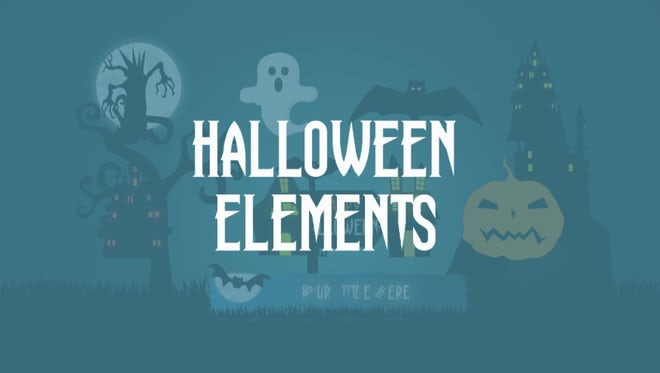 Halloween Animated Elements: After Effects Templates