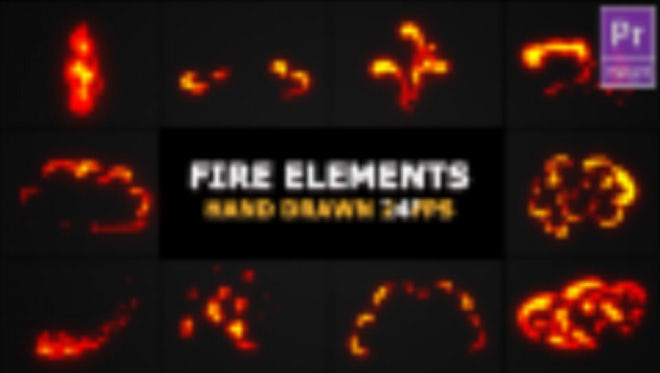 Flash FX Flame Elements: Motion Graphics Templates