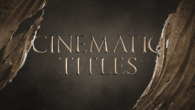 Cinematic Cloth Rip Titles: Motion Graphics Templates