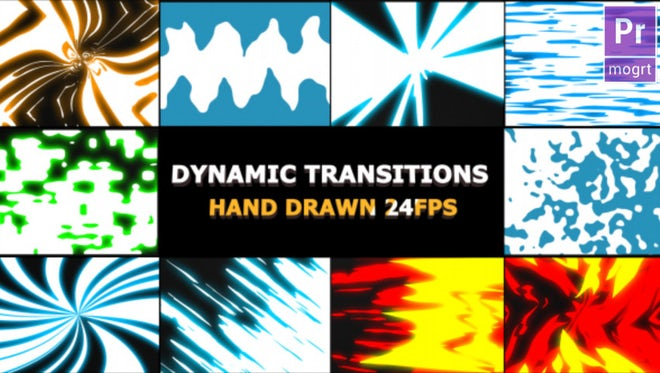Dynamic Elemental Transitions: Motion Graphics Templates
