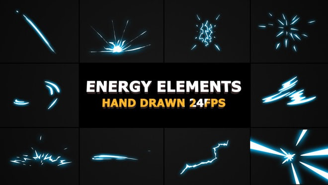 2D FX Energy Elements: Stock Motion Graphics